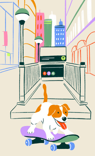 """LinkNYC - """"Dogs Taking Over The City"""" series"""