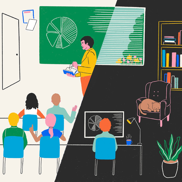 The New York Times - good and bad of teaching remotely