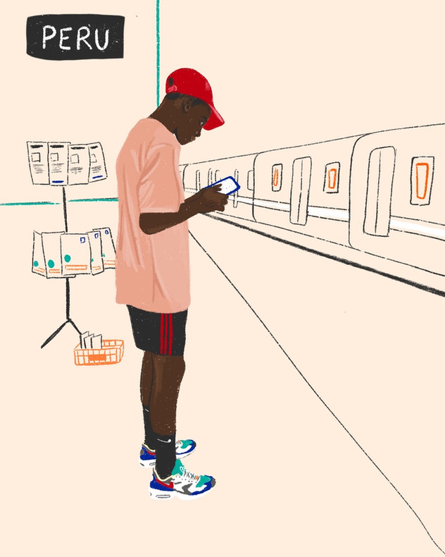 Series | waiting subway - AI 39 winner