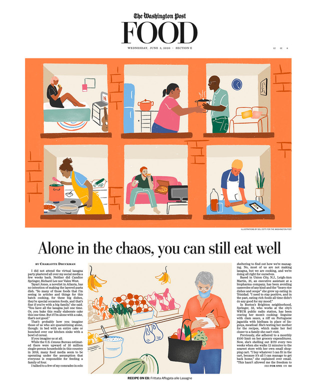 The Washington Post COVER - solo cooks