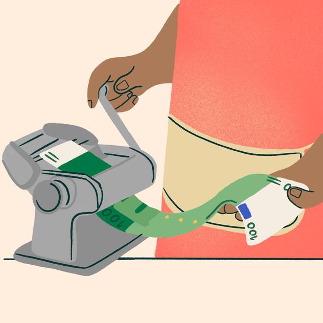 Freundin Magazine spot - How to get money?