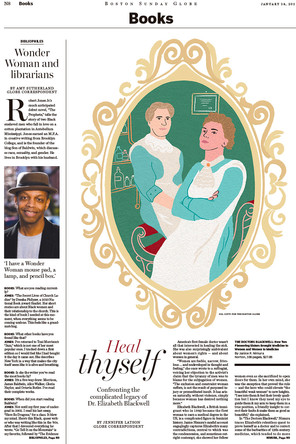 The Boston Globe COVER - Book Review section