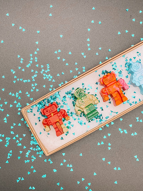 6 Pack Robot Crayons