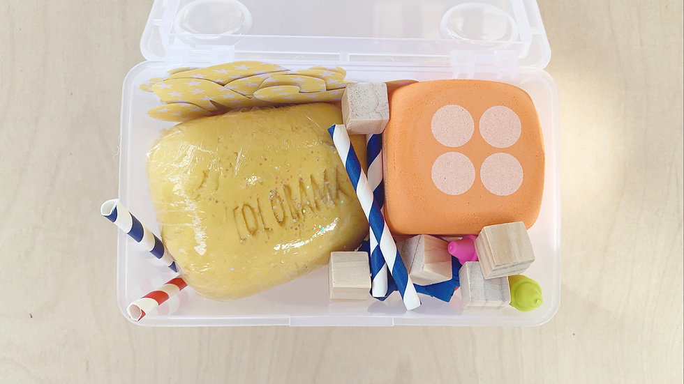 MINI PLAY + LEARN PLAYDOUGH KIT