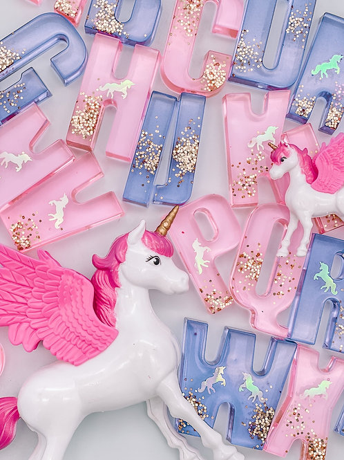 Unicorn Resin Letters