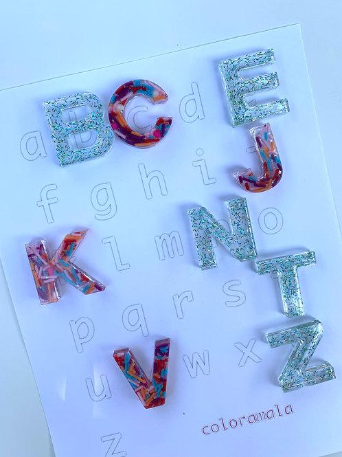 ABC Resin Letter Printables