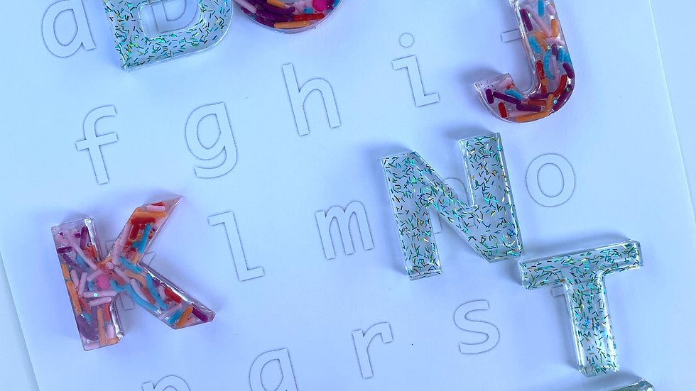 ABC Resin Letter Printables