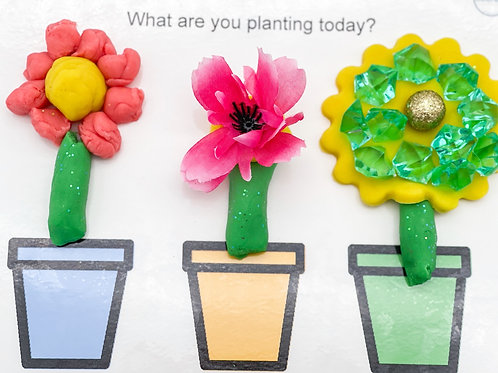 FREE  Spring Playdough Mats