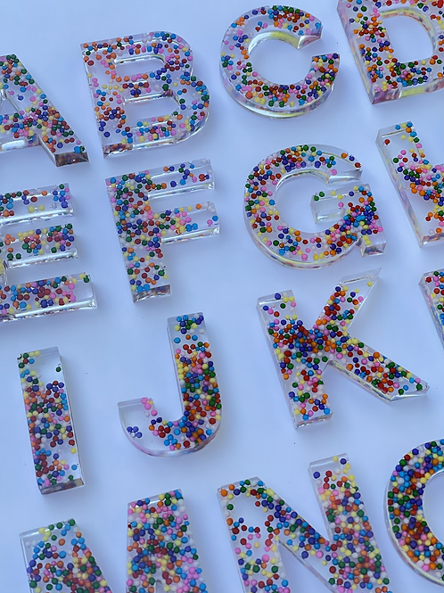 SPRINKLES RESIN LETTERS