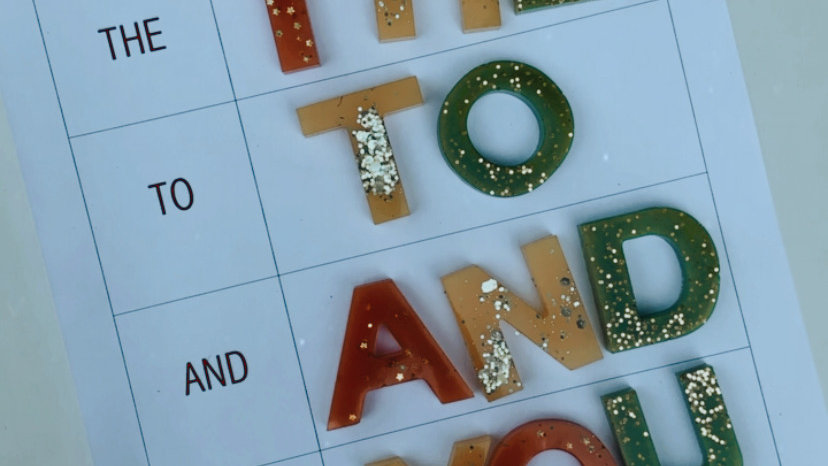 Resin Letter Sight Word Printables