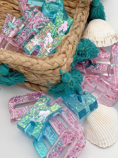 Chunky Mermaid Resin Letter Set