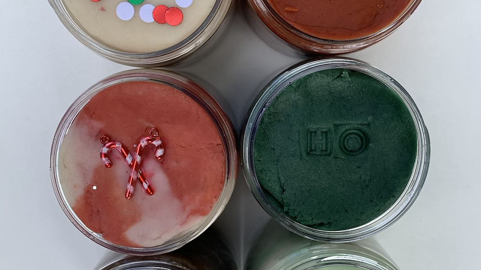 ESSENTIAL OIL SCENTED HOLIDAY JARS
