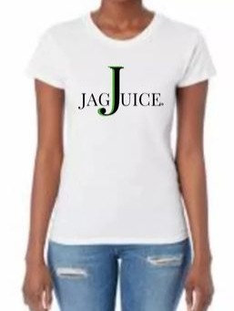 """Jag Juice"" Green Juice Inspirational White Cotton T-Shirt"