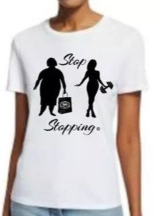"""Stop Stopping"" Before & After Motivational White T-shirt"