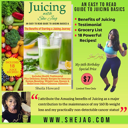 Juicing with She Jag Book AD FOR MY PAGE