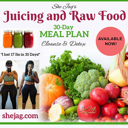 30-Day Juicing & All Raw Meal Plan