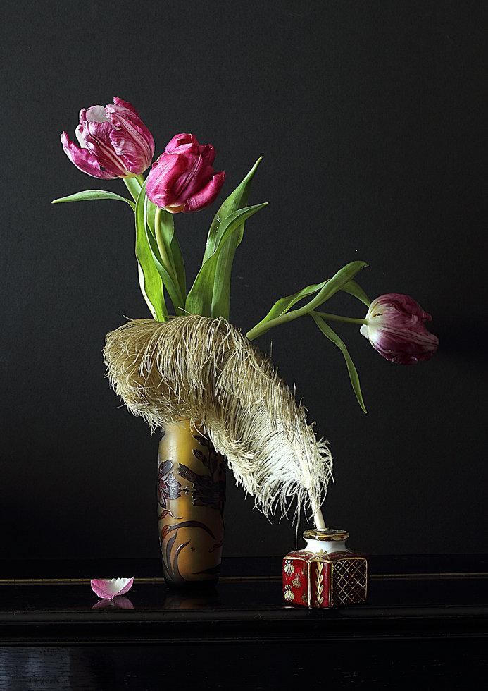 L'encrier aux tulipes N°9160