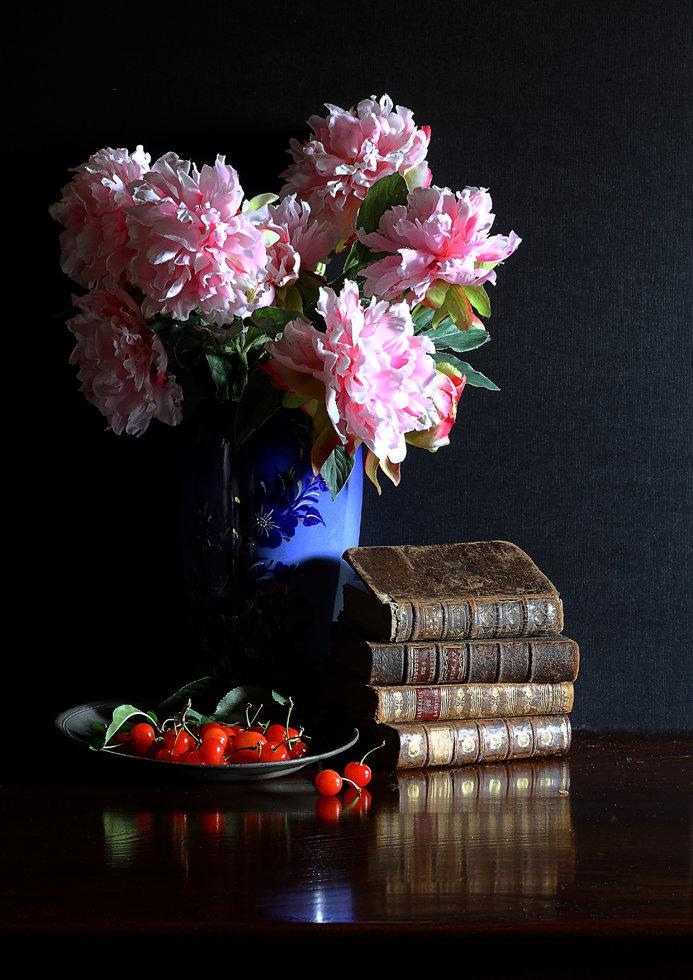 Pivoines et cerises N°4482