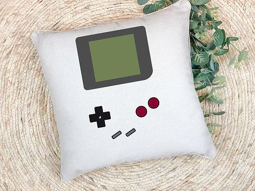 retro gamer themed printed pillow