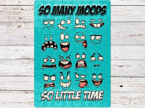 A4 120 piece jigsaw with so many moods themed print