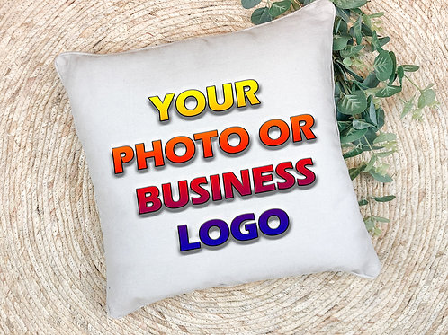 have your own photo or company logo printed on a pillow