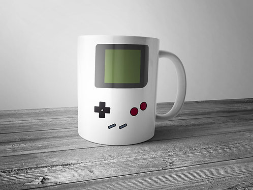 retro gamer themed printed mug