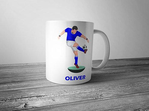 personalised football themed printed mug