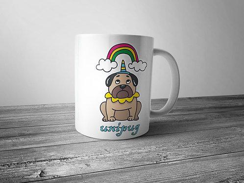 pug themed printed mug