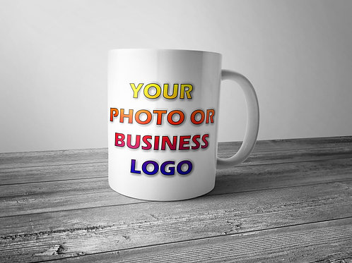 have your own photo or company logo printed on a mug