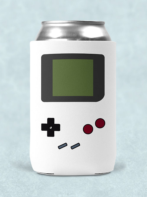 4 retro gamer themed printed can coolers