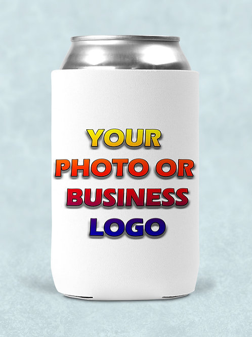4 printed can coolers with your name or design