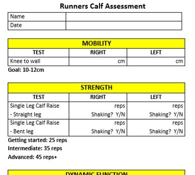 Calf Strength Goals for Runners Part 3: Self-Assessment