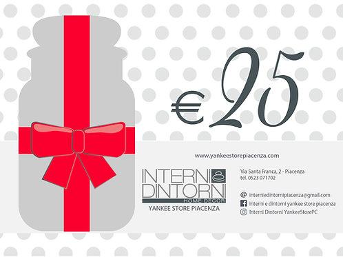 GIFT CARD - €25 Carta Regalo