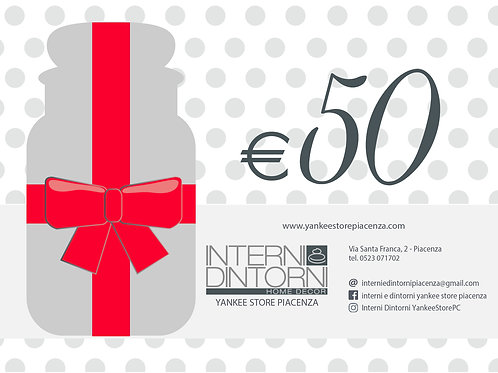 GIFT CARD - €50 Carta Regalo