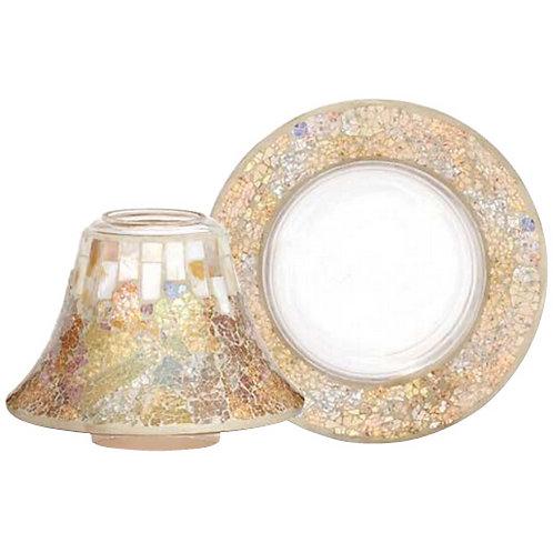 Paralume e piatto grande - GOLD & PEARL