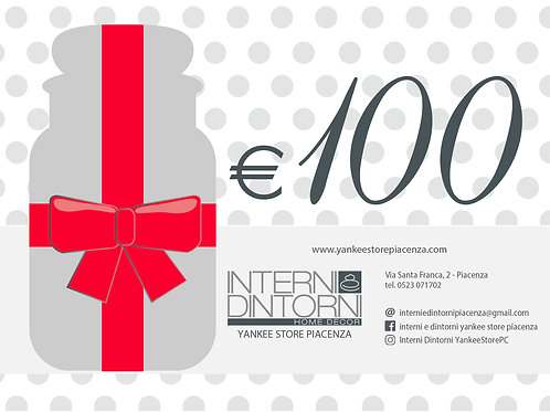 GIFT CARD - €100 Carta Regalo