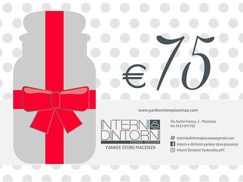GIFT CARD - €75 Carta Regalo
