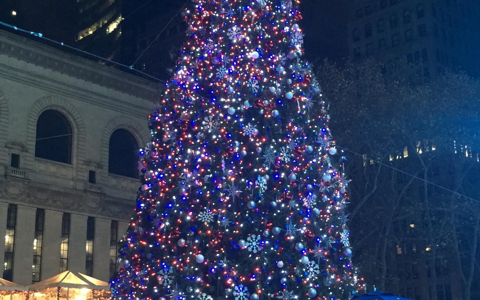 Bryant Park Tree Lighting