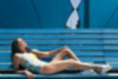 vintage looney tunes swimsuit poolside lookbook