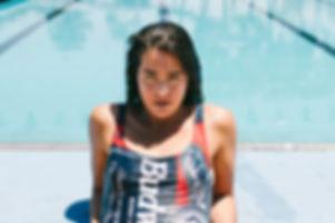 budweiser swim suit pool side vintage