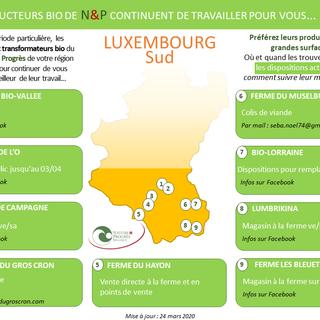 LUXEMBOURG S : producteurs BIO N&P