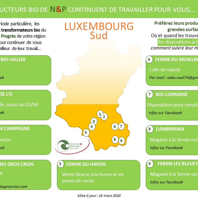 LUXEMBOURG S : producteurs BIO N&P