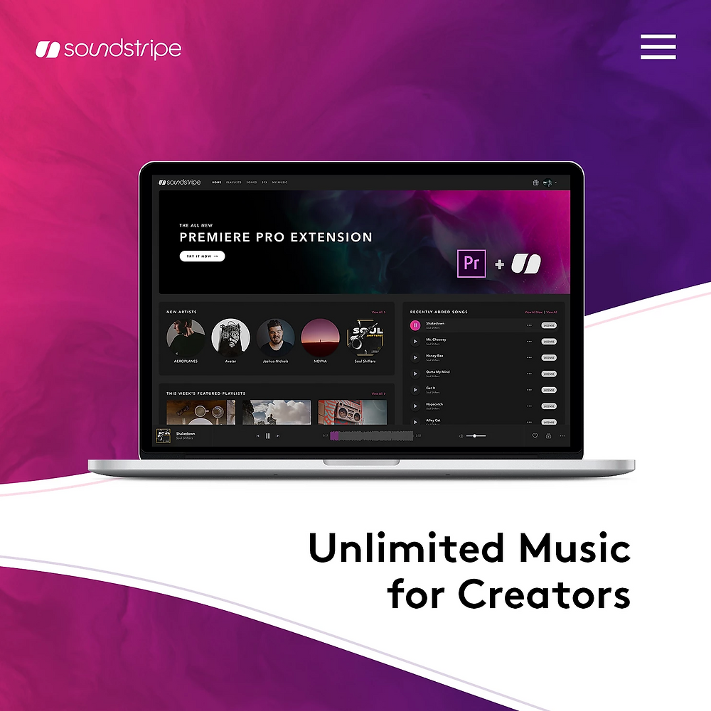 Get 10% off unlimited royality free music from Soundstripe.com! Click above now!
