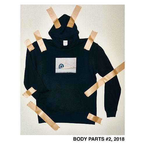 BODY PARTS BLACK HOODIE 002
