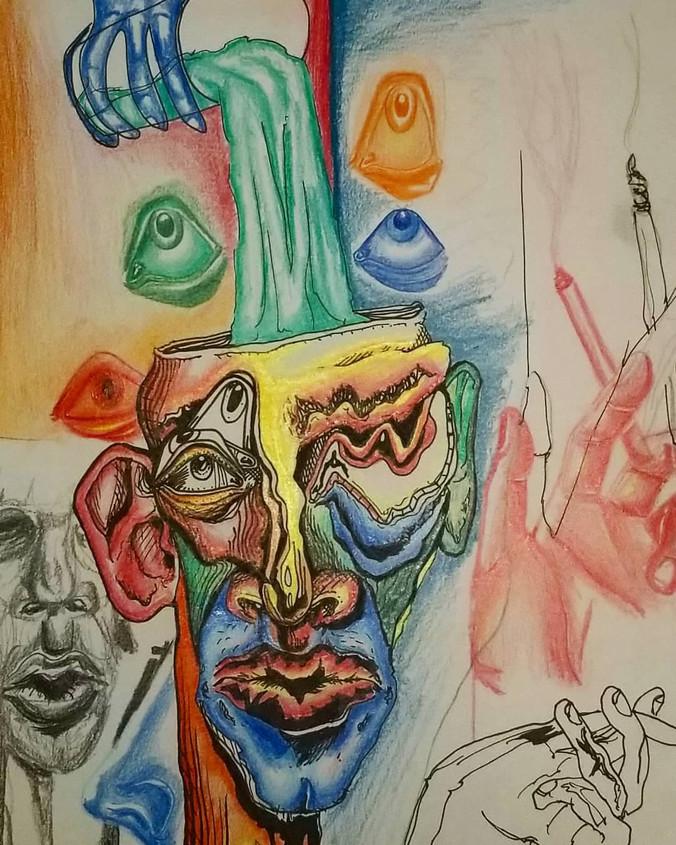 20 year old artist Hayden Reihl's surreally psychedelic illustrations