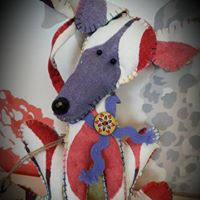 Sight hounds made from recycled fabric