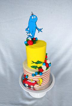 """One Fish, Two Fish"" Baby Shower Cake"
