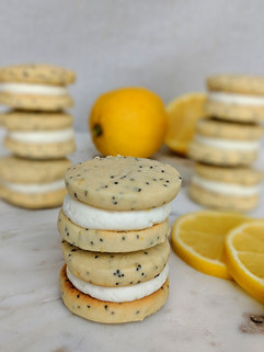 Lemon Poppyseed Sandwich Cookie