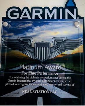 Neal Aviation Receives Garmin Platinum Dealership Award