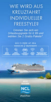 Free at Sea mit NCL und Kreuzfahrten mit Meeresblick